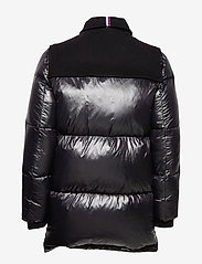 Hilfiger Collection - HCM DOWN SLEEVE DUFFLE COAT - padded jackets - jet black - 4