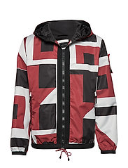 GEO HOODED JACKET, 6 - RIO RED