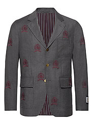 HCM SUIT SEP BLAZER EMBROIDERY - CHARCOAL HEATHER