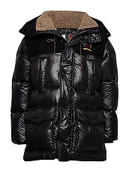HCM WOOL NYLON DOWN TECH PARKA - JET BLACK