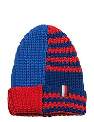 HE STRIPE MIXED BEANIE - BLUE