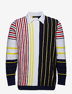 012 STRIPED RUGBY SW - langærmede - bright white