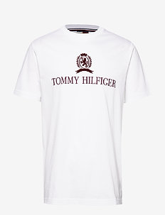 HCM CREST AND LOGO TEE - BRIGHT WHITE