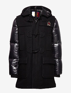 HCM DOWN SLEEVE DUFFLE COAT - padded jackets - jet black