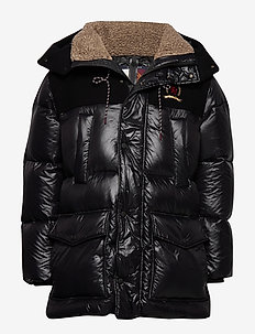 HCM WOOL NYLON DOWN TECH PARKA - padded jackets - jet black