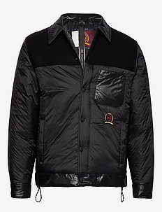 HCM SHIRT JACKET - padded jackets - jet black