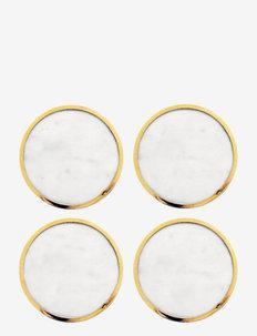 Candlestand Lucia - bordbrikker, glassunderlag & bordskånere - marble/brass