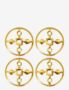 Coaster Amina Gemella - bordbrikker, glassunderlag & bordskånere - brass