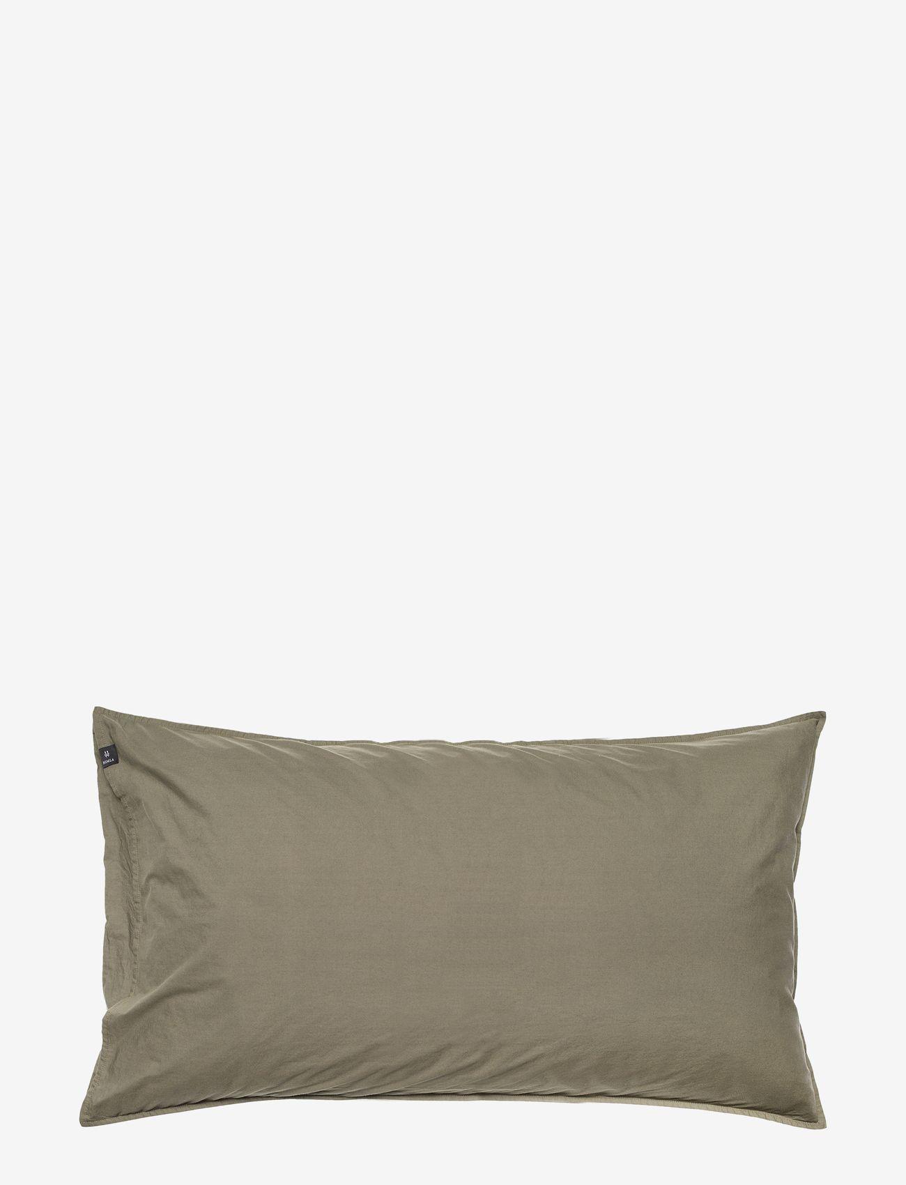 Himla - Hope Plain Pillowcase - pudebetræk - khaki - 0