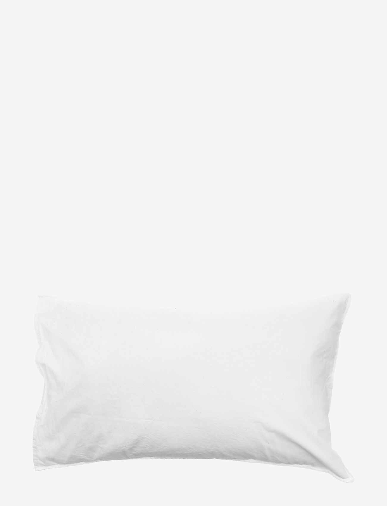 Himla - Hope Plain Pillowcase - pudebetræk - white - 0
