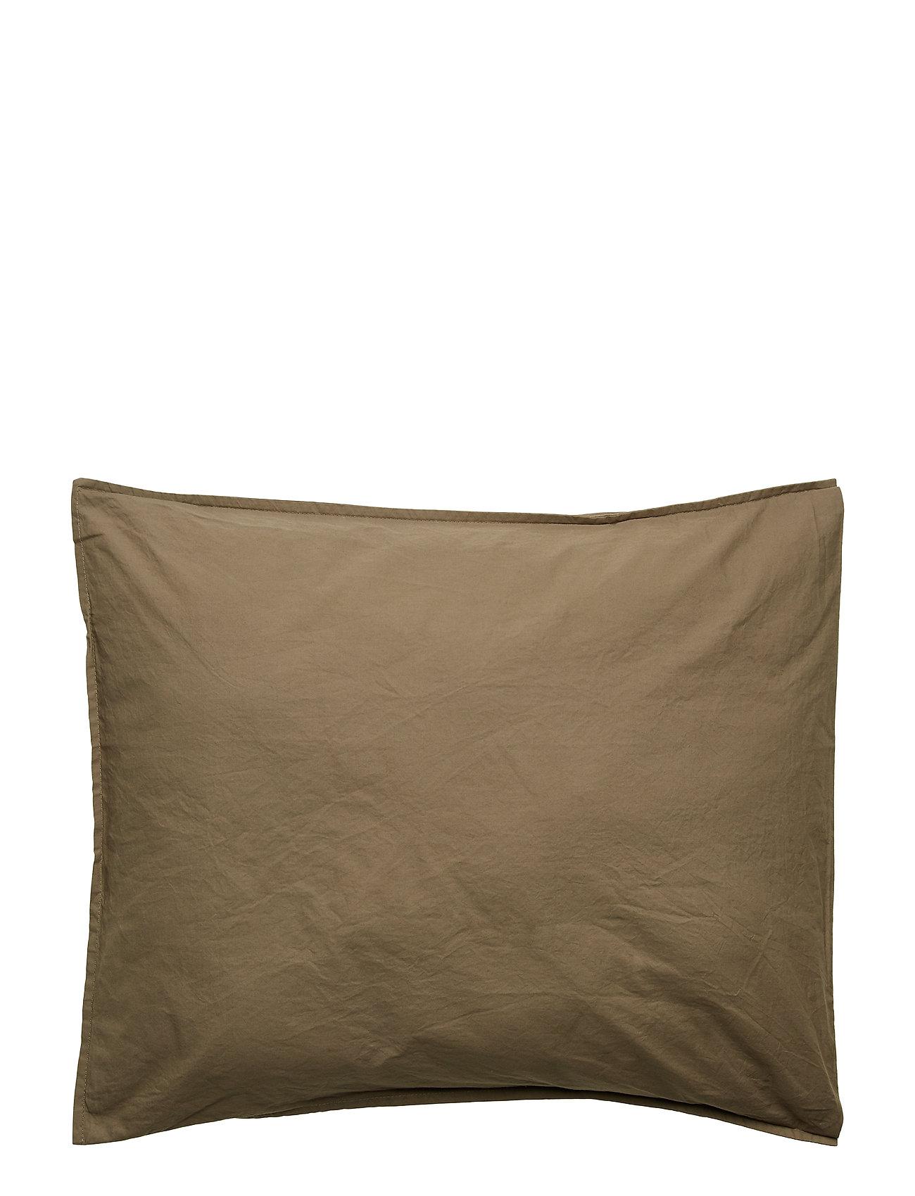 Himla - Hope Plain Pillowcase - pudebetræk - khaki - 1