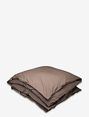 Himla - Hope Plain Duvet Cover - sengesæt - brownie - 0