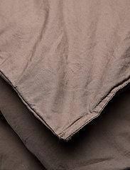 Himla - Hope Plain Duvet Cover - sengesæt - brownie - 1