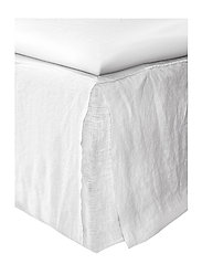 Mira Loose-Fit Bed Skirt - WHITE