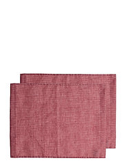 Maya Coated Placemat - TRUE RED/WHITE