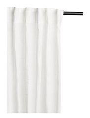 Lilja Curtain with headingtape - WHITE
