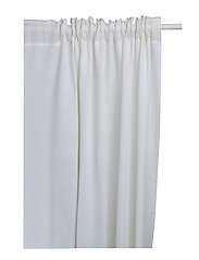 Svealand Curtain with heading tape - WHITE