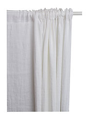Hälsingland Curtain with headingtape - WHITE