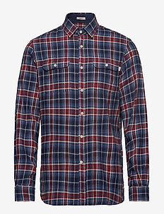 HKT BLUE AND RED PLAID - 5DCNAVY/RED