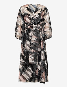 Arielle - wrap dresses - black print