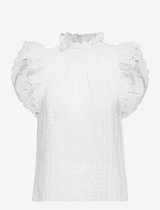 Essie - Ærmeløse bluser - white