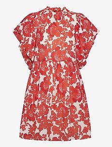Amelie Print - sommarklänningar - coral print