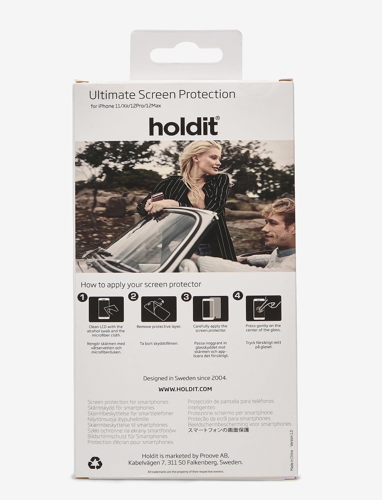 Holdit - Temp Glass iPhone 11/XR - suojakalvot - 2.5d transparent - 1