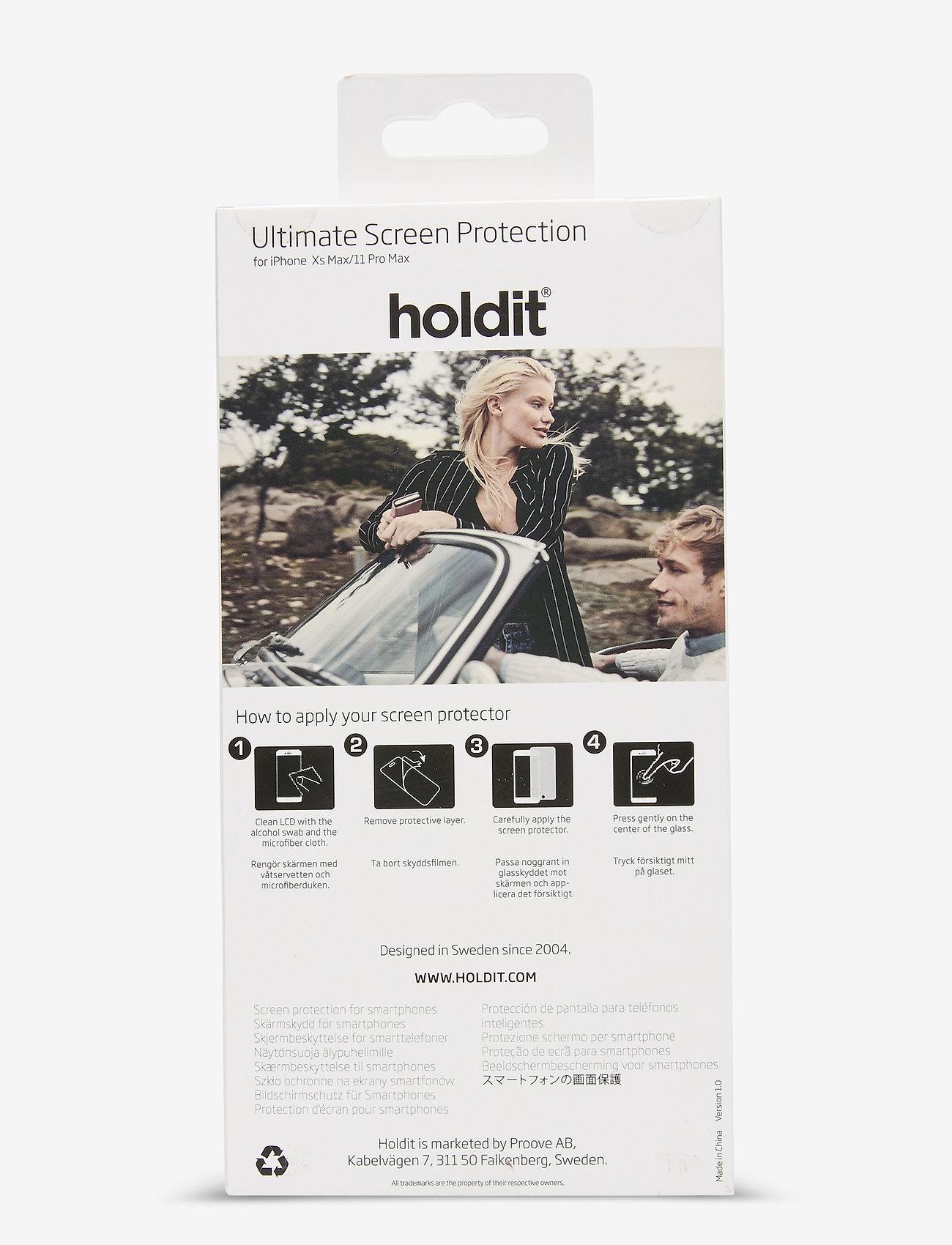 Holdit - Temp Glass iP11 Pro Max/Xs Max - suojakalvot - 2.5d transparent - 1