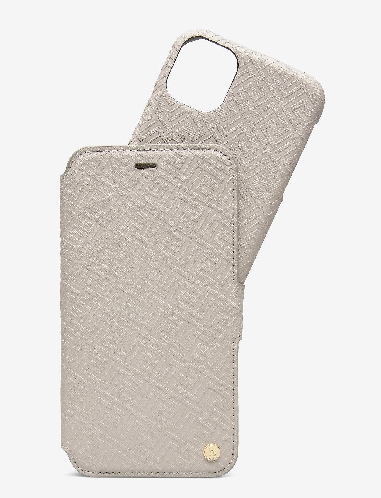 Holdit - Wallet Case Mag iPhone 11/XR - puhelimen kuoret - stockholm celia taupe - 1