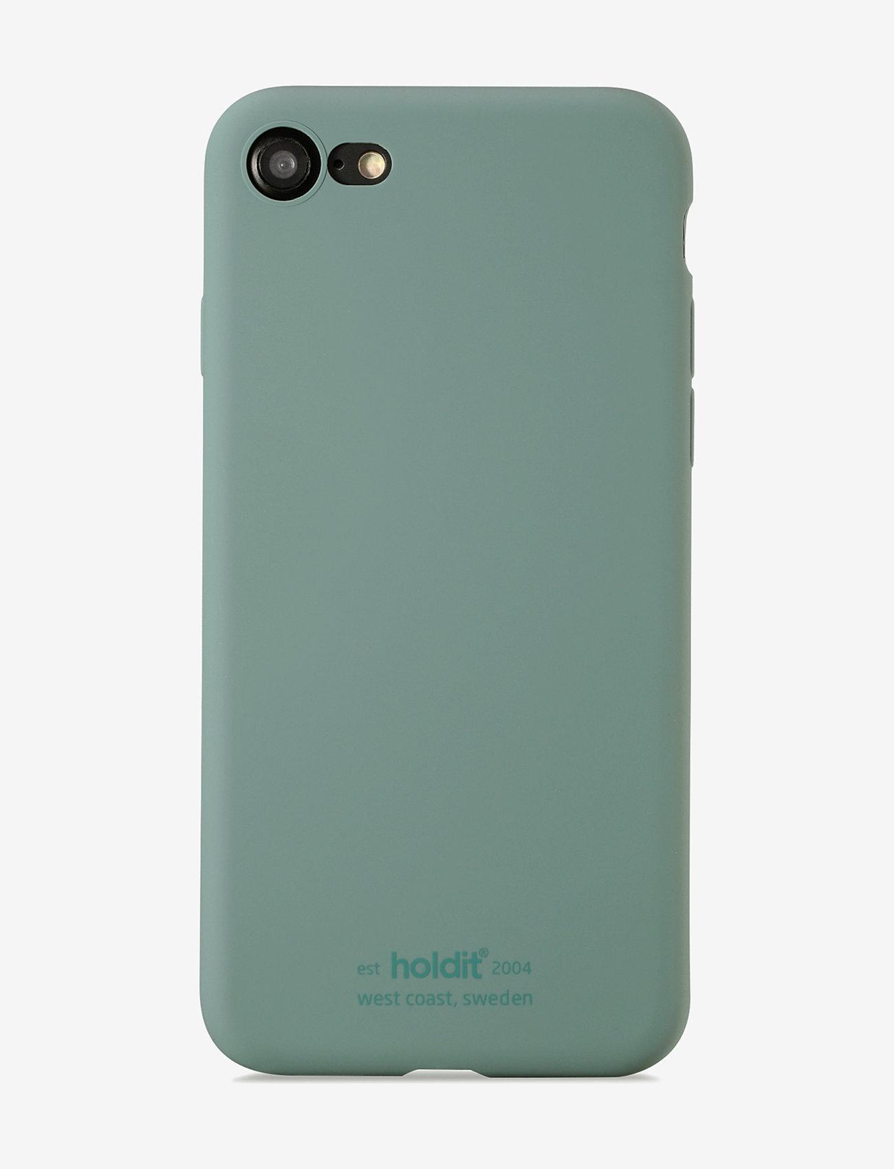 Holdit - Silicone Case iPhone 7/8/SE - puhelimen kuoret - moss green - 1