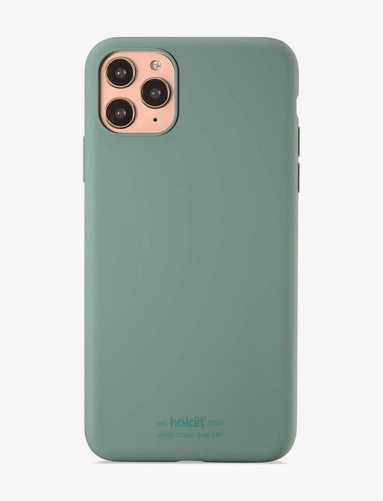 Holdit - Silicone Case iPh 11 Pro Max - puhelimen kuoret - moss green - 1