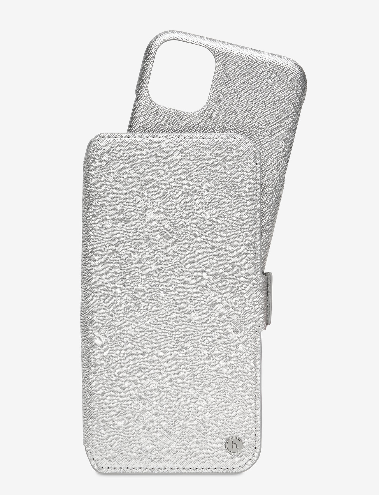 Holdit - Wallet Case Mag iPhone 11/XR - puhelimen kuoret - stockholm silver - 1