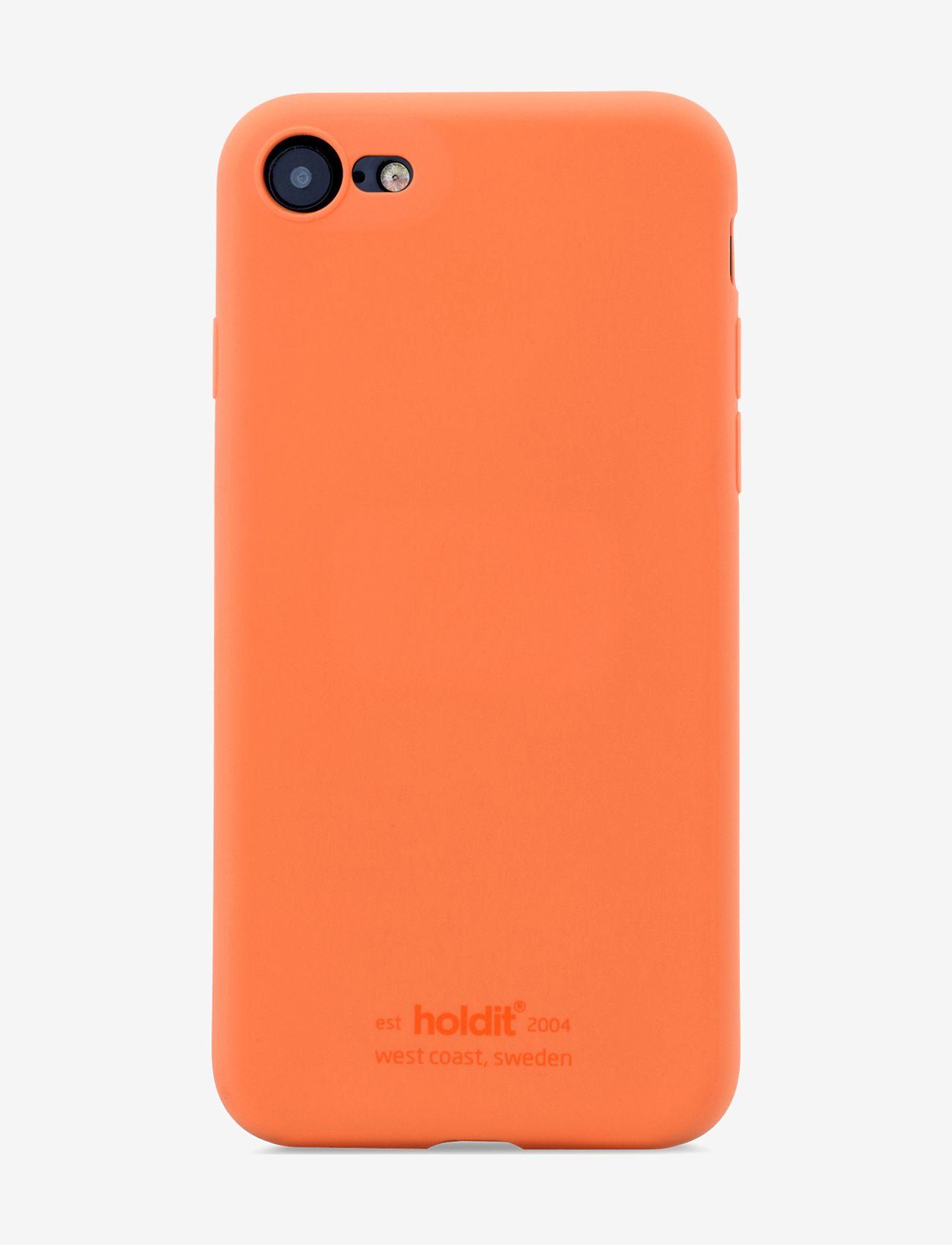Holdit - Silicone Case iPhone 7/8/SE - puhelimen kuoret - orange - 1