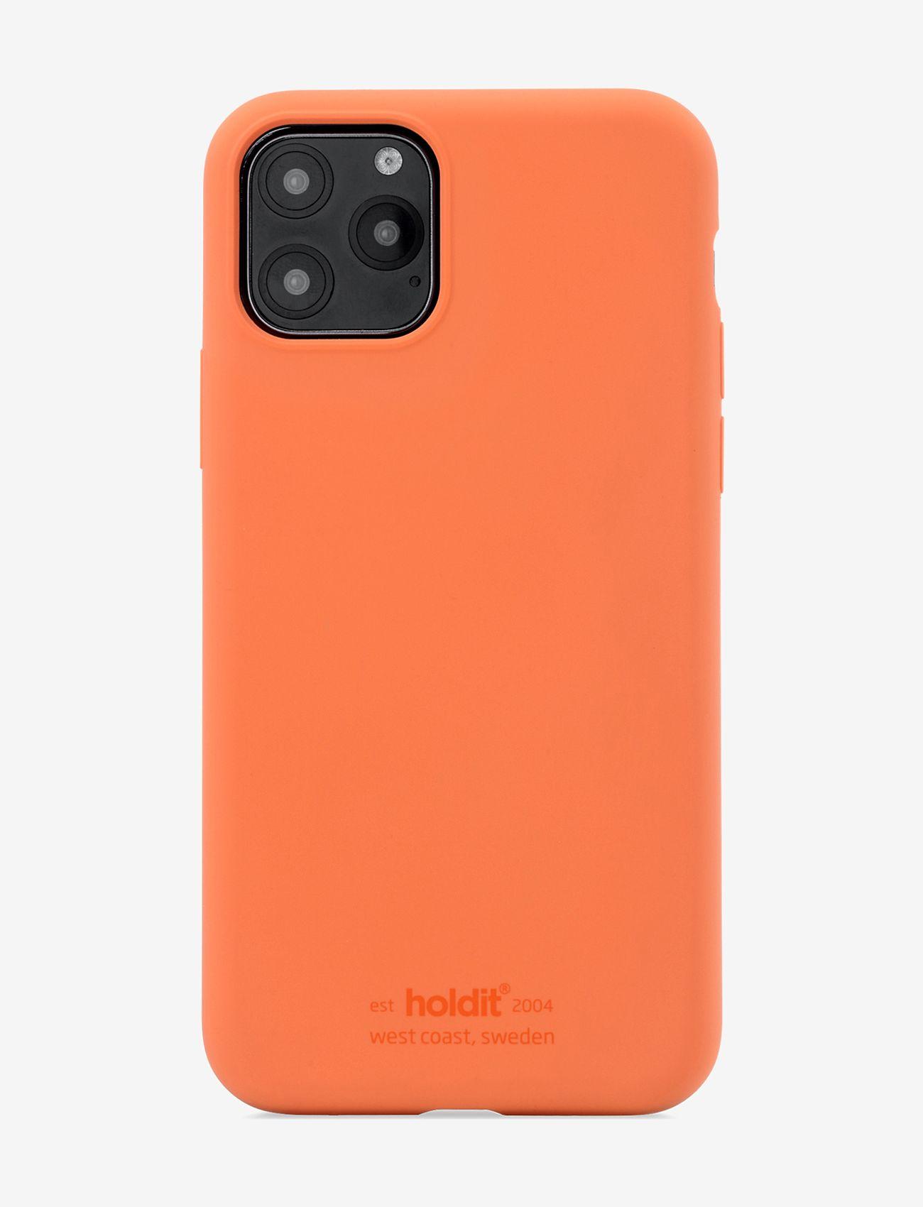 Holdit - Silicone Case iPhone 11 Pro - puhelimen kuoret - orange - 1