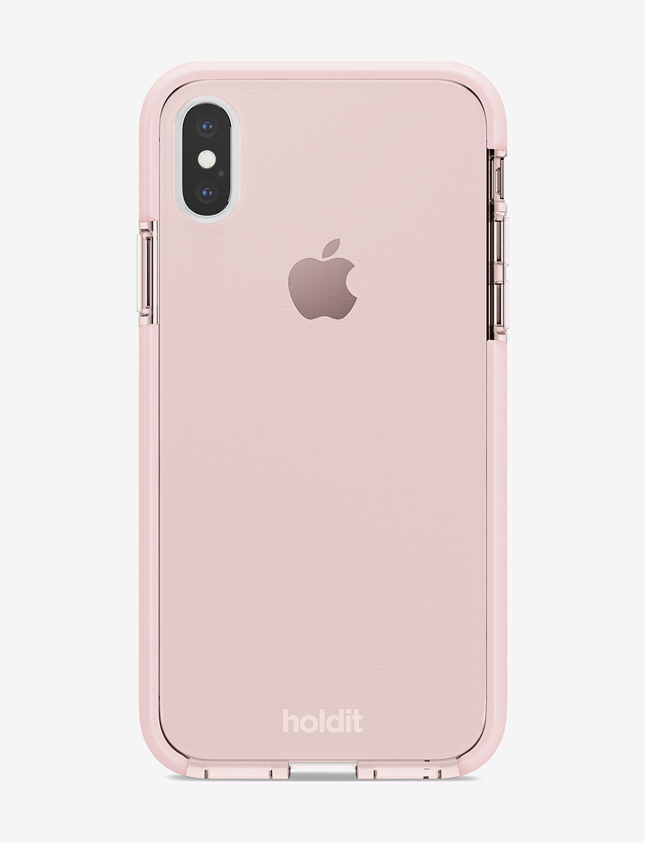 Holdit - Seethru Case iPhone X/Xs - puhelimen kuoret - blush pink - 1