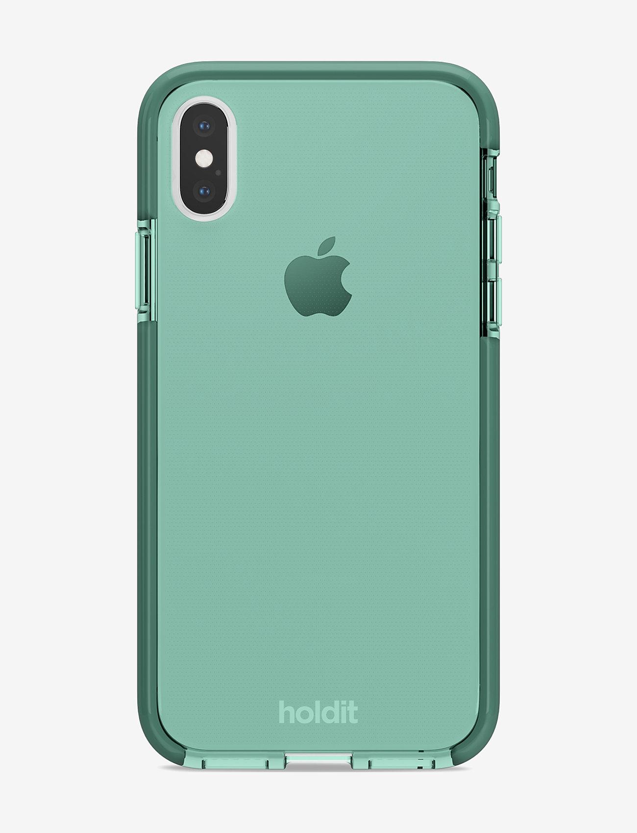 Holdit - Seethru Case iPhone X/Xs - puhelimen kuoret - moss green - 1