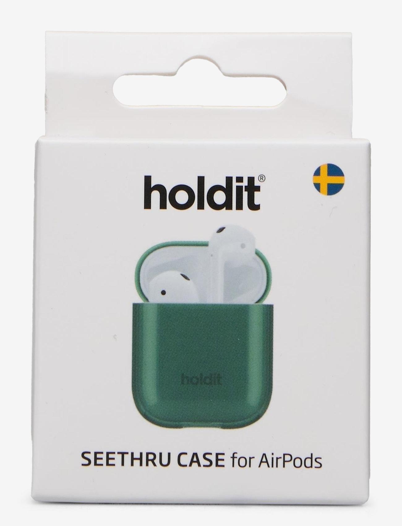 Holdit - Seethru Case AirPods - airpods-suojakotelot - seethru moss green - 1