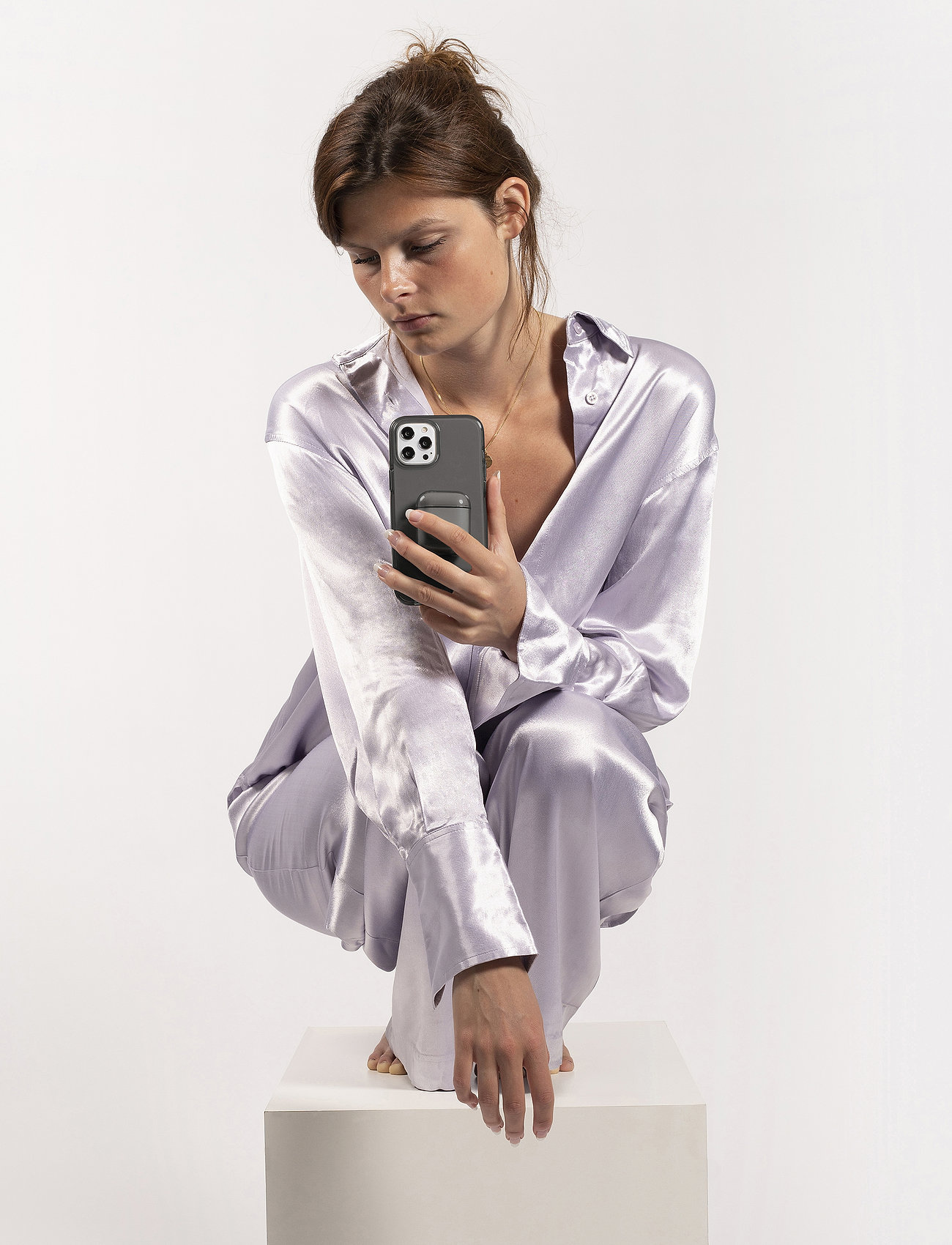 Holdit - Seethru Case iPhone X/Xs - puhelimen kuoret - blush pink - 0
