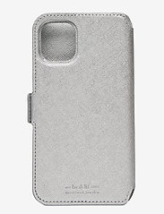 Holdit - Wallet Case Mag iPhone 11/XR - puhelimen kuoret - stockholm silver - 2