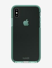 Holdit - Seethru Case iPhone X/Xs - puhelimen kuoret - moss green - 2