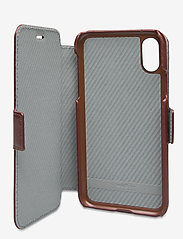 Holdit - Wallet Case Magnet iPhone X/Xs - puhelimen kuoret - berlin dark brown - 4