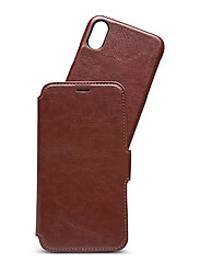 Wallet Case Magnet iPhone X/Xs - BERLIN DARK BROWN