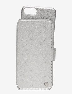 Wallet Case Magnet iP 6/7/8/SE - phone cases - stockholm silver