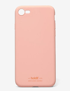 Silicone Case iPhone 7/8/SE - phone cases - pink peach