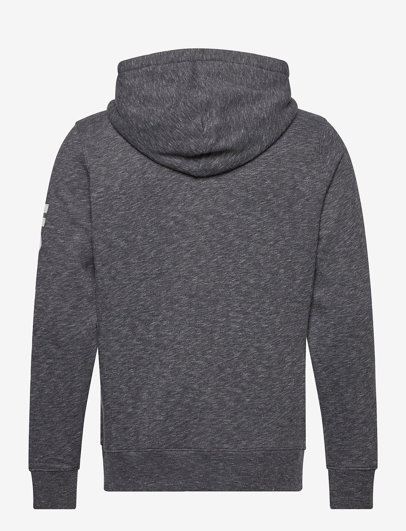 Hollister - Tech Logo - hoodies - black sd/texture - 1