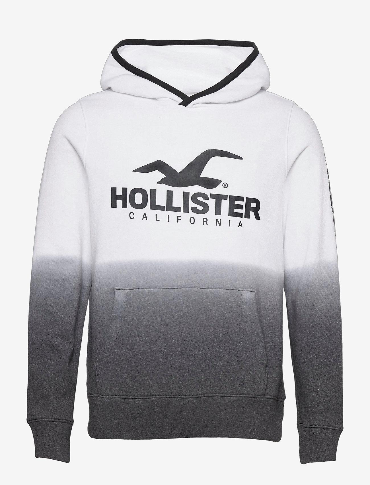 Hollister - Sport Print Logo - hoodies - white pattern - 0