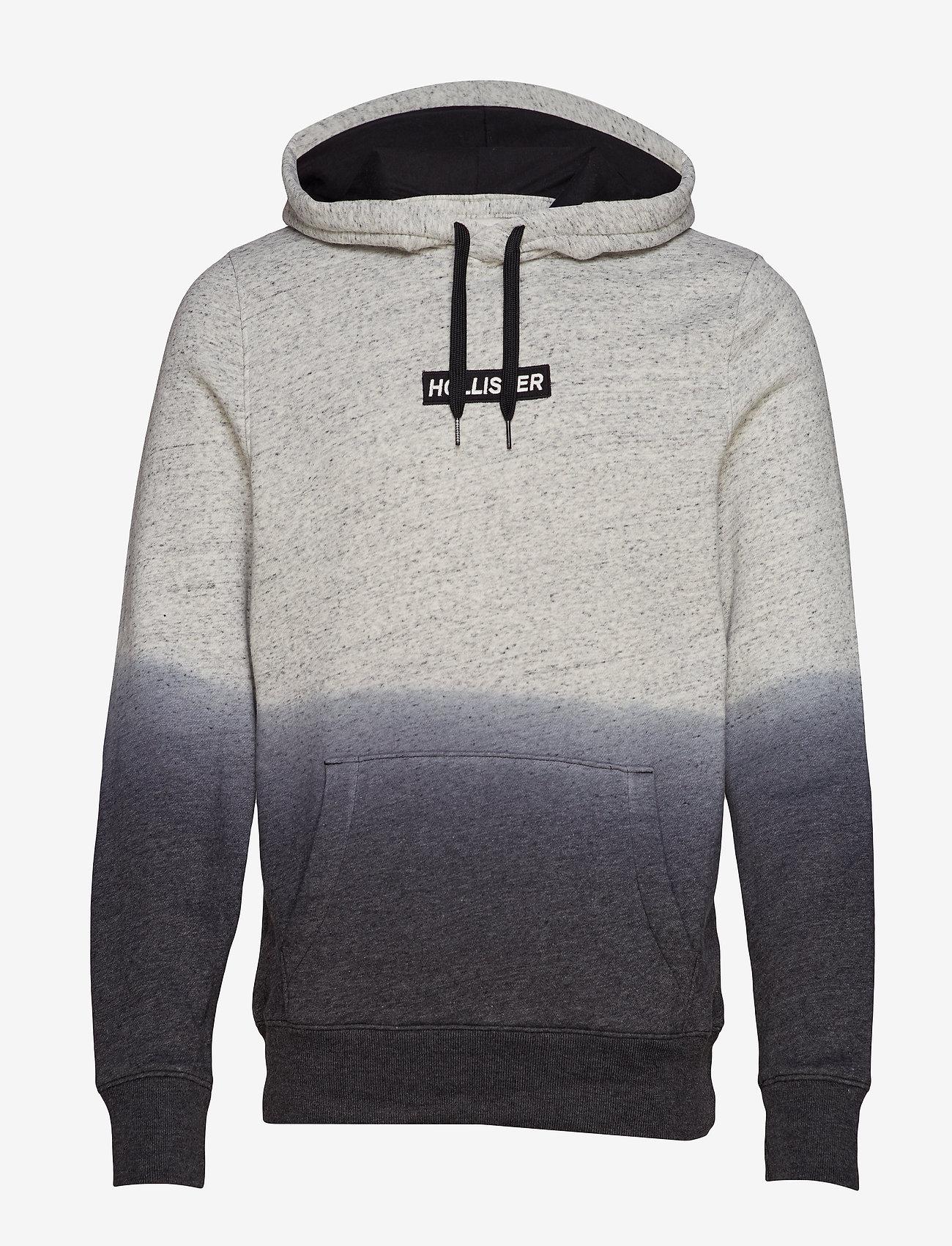 Hollister - Logo Sweatshirt - kapuzenpullover - light grey pattern - 0