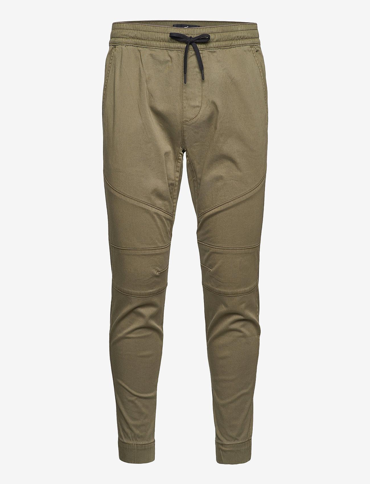 Hollister - HCo. GUYS PANTS - bottoms - olive skinny jogger - 0
