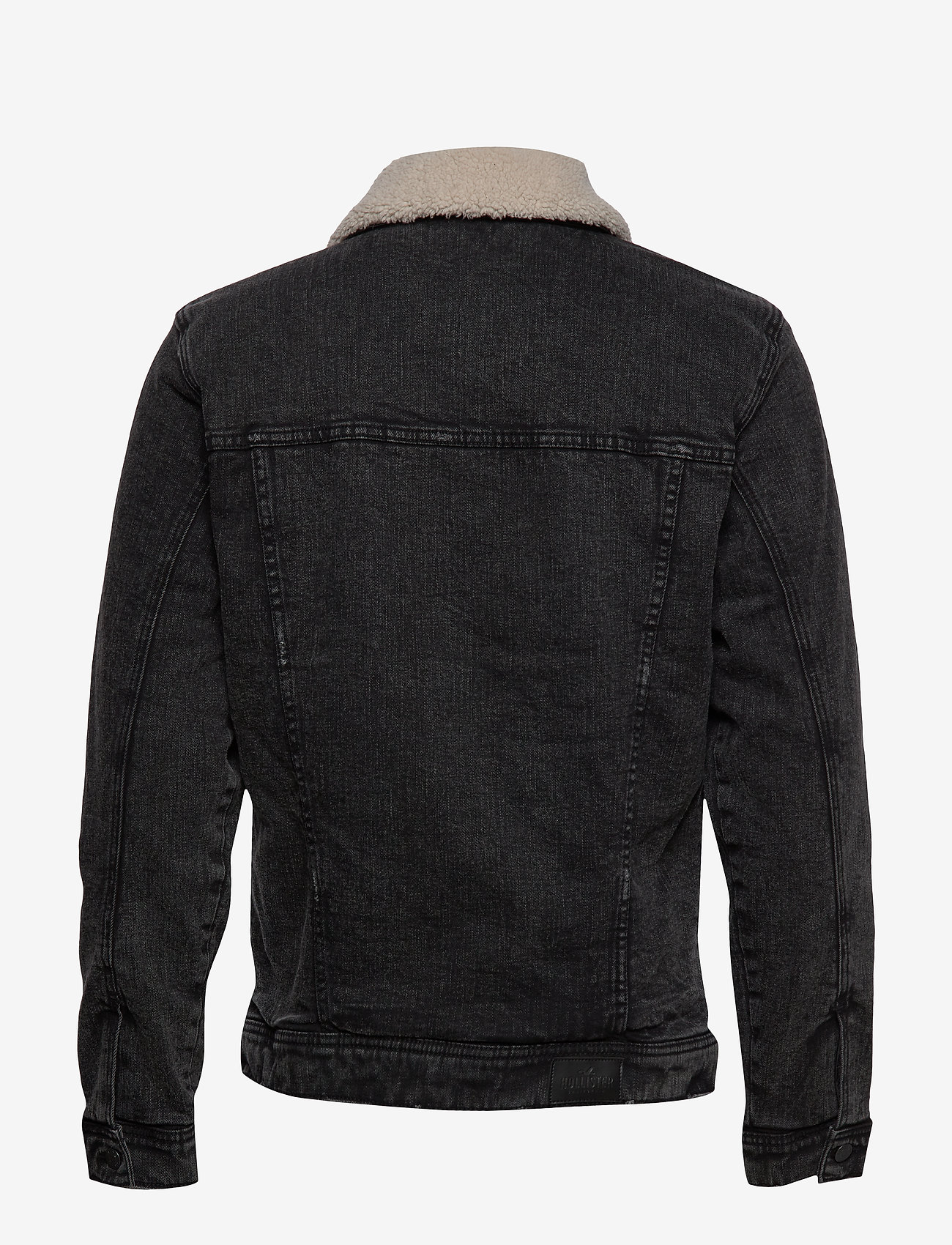 Sherpa Lined Trucker Black (Black Destroy) (69.30 €) - Hollister YvctkWP4