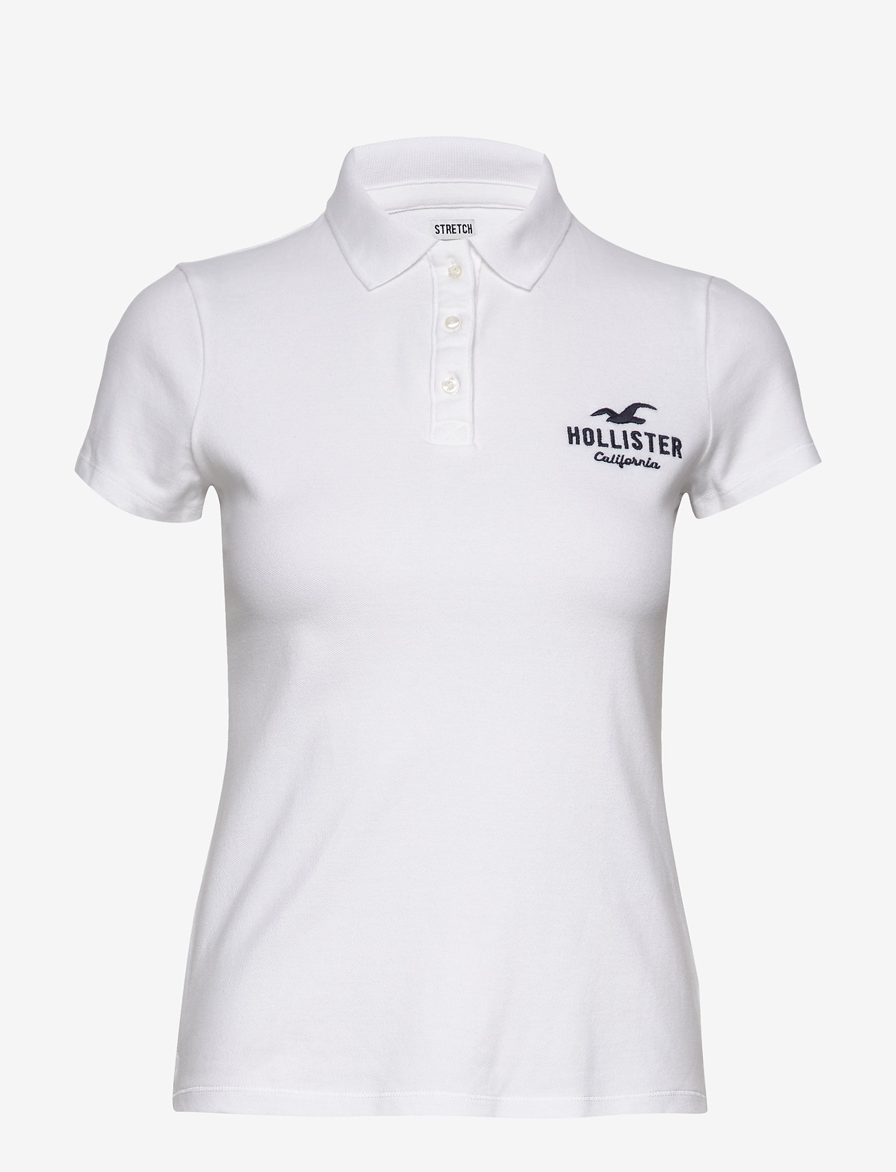 Hollister - Core Logo Polo - pikeepaidat - white - 0
